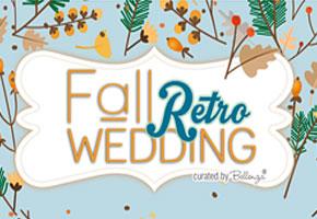 Blue retro fall weddings