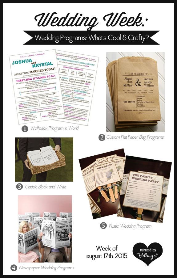 Wedding Programs You Can DIY or Customize From Templates You Can Download to Newspaper Style!
