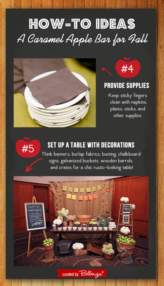 Caramel Apple Bar! Decorations and Supplies. #caramelapplebar