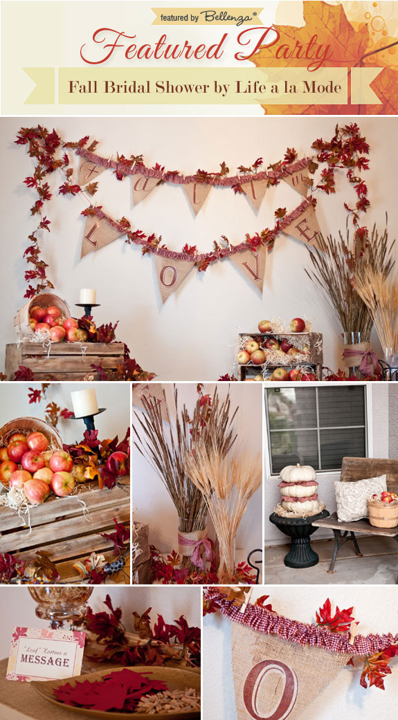 Heartwarming Homemade Touches for a Rustic Fall Bridal Shower