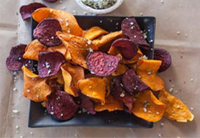 Sweet potato chips via Food Network