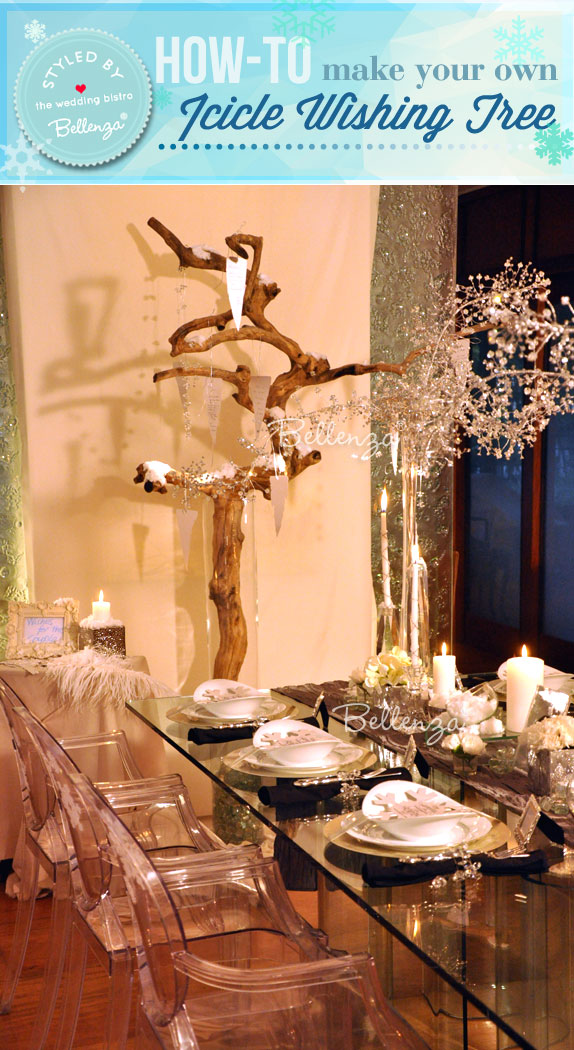 A winter wonderland styled shoot by the Wedding Bistro at Bellenza. #weddingwishtrees
