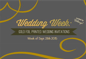 Gold foil invites modern for weddings
