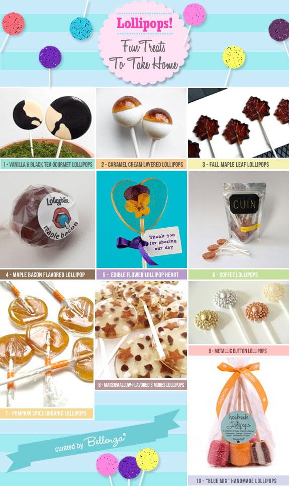 10 Fancy Lollipop Choices for Fall Wedding Favors