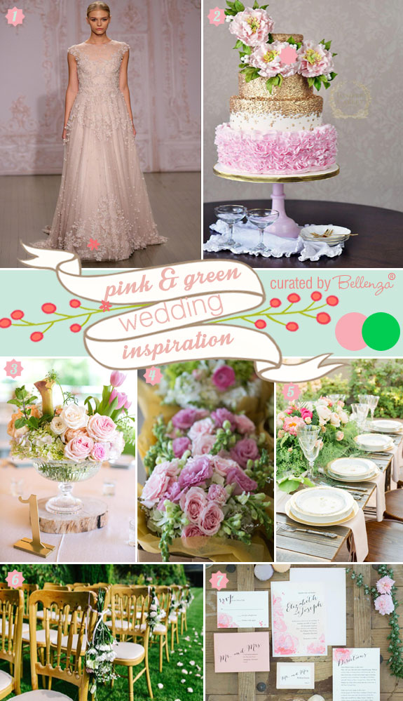A Spring Wedding Palette Abloom in Pink and Green.
