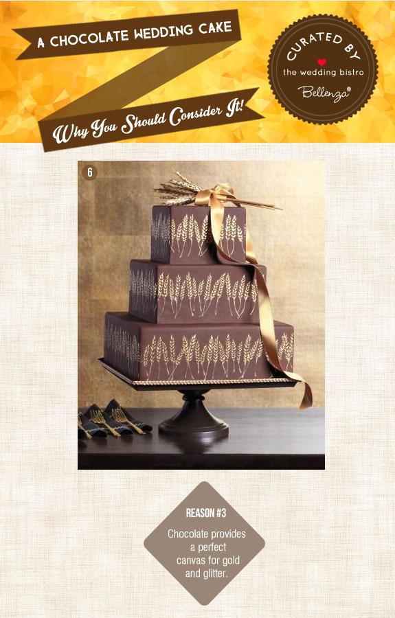 Wheat-motif cake in chocolate
