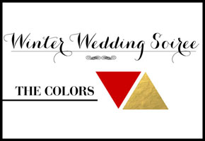 Winter red and gold wedding