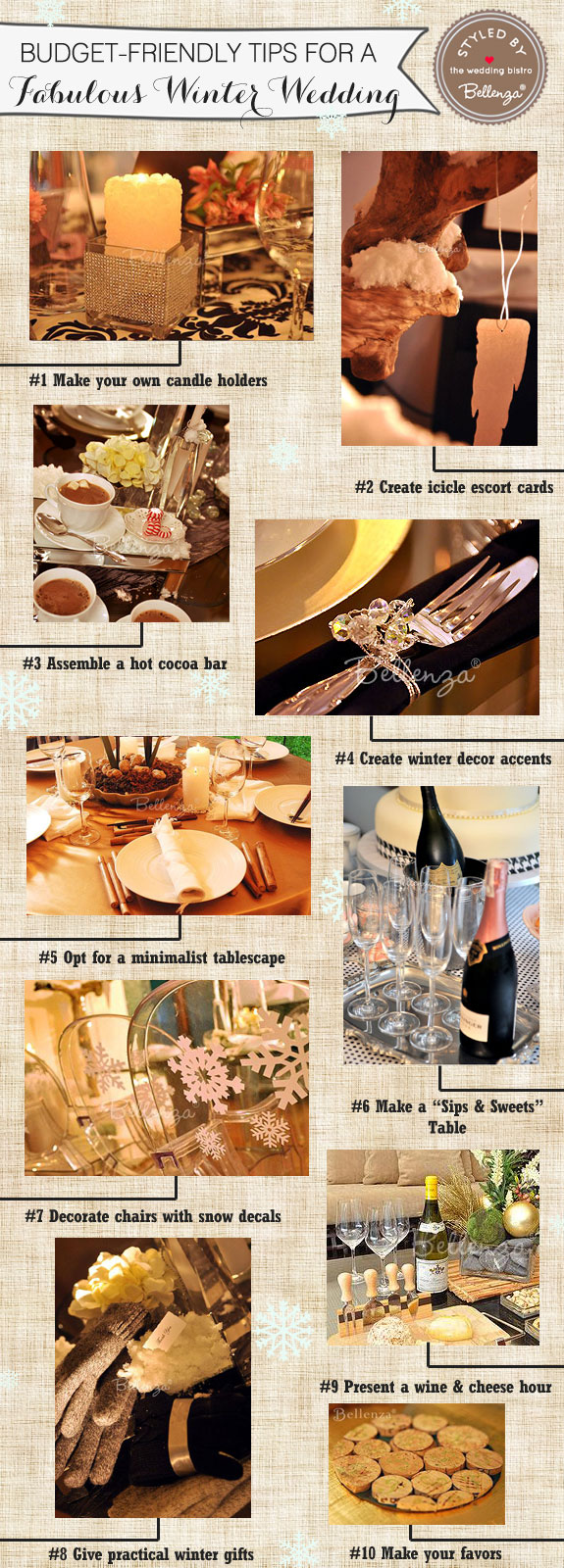 10 budget-friendly winter wedding tips and ideas from Bellenza