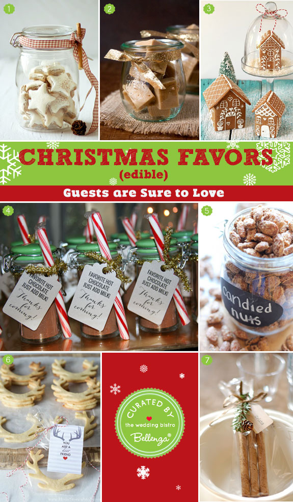 Christmas favors that are edible - 12 Creative Christmas Favors as seen on the Wedding Bistro at Bellenza