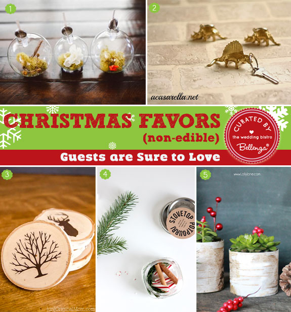 Christmas favors that are nonedible - 12 Creative Christmas Favors as seen on the Wedding Bistro at Bellenza