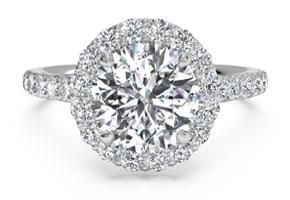 French-set Halo Diamond Band Engagement Ring from  Ritani