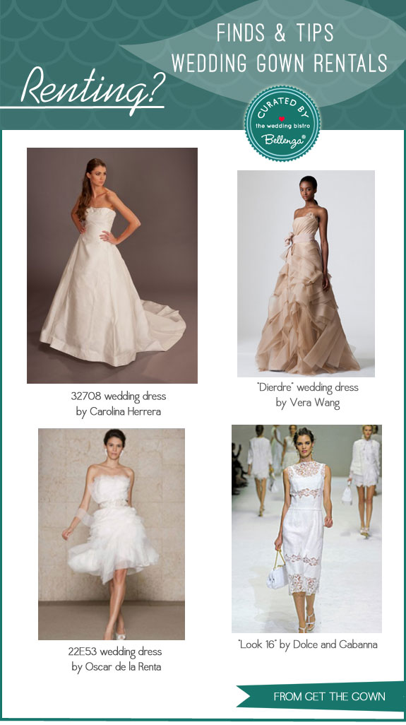 Get The Gown Finds  | Finds and Tips for Renting Bridal Gowns by Bellenza