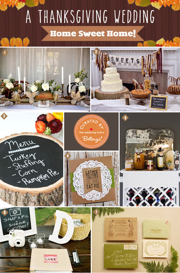Home Sweet Home! An Intimate Thanksgiving Wedding  Celebration
