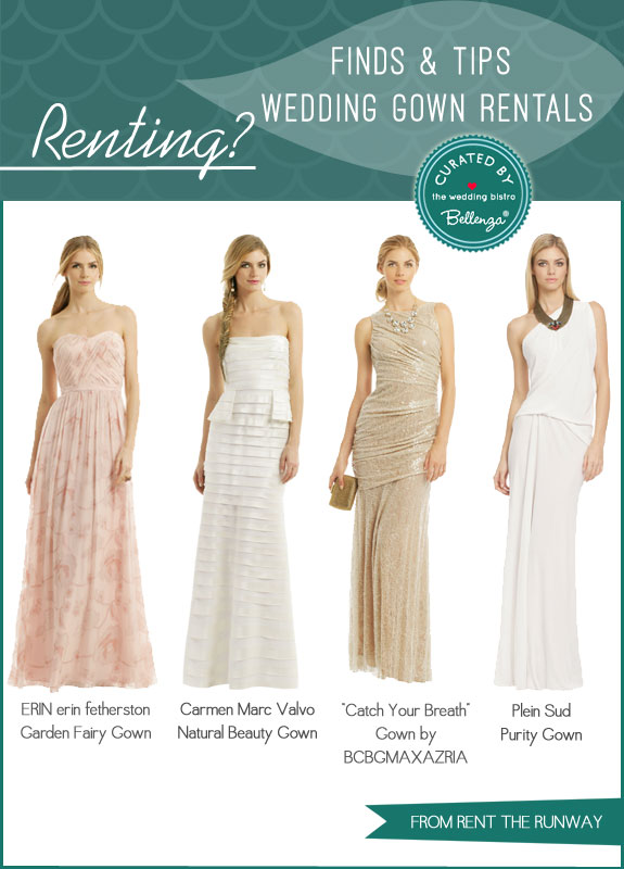Rent the Runway Gowns | Finds and Tips for Renting Bridal Gowns by Bellenza