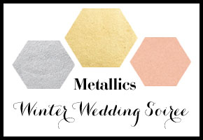 Winter Wedding in gold, silver, and copper by Bellenza