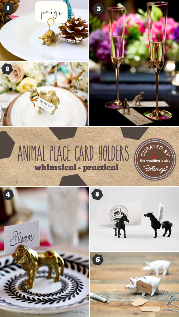 Animal Place Card Holder Ideas