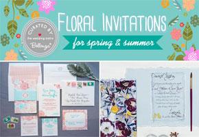 Floral invitation suites