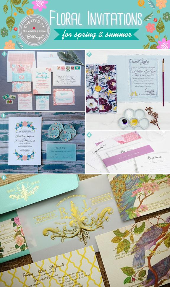 Elegant Floral Invitation Suites for Spring and Summer Weddings!