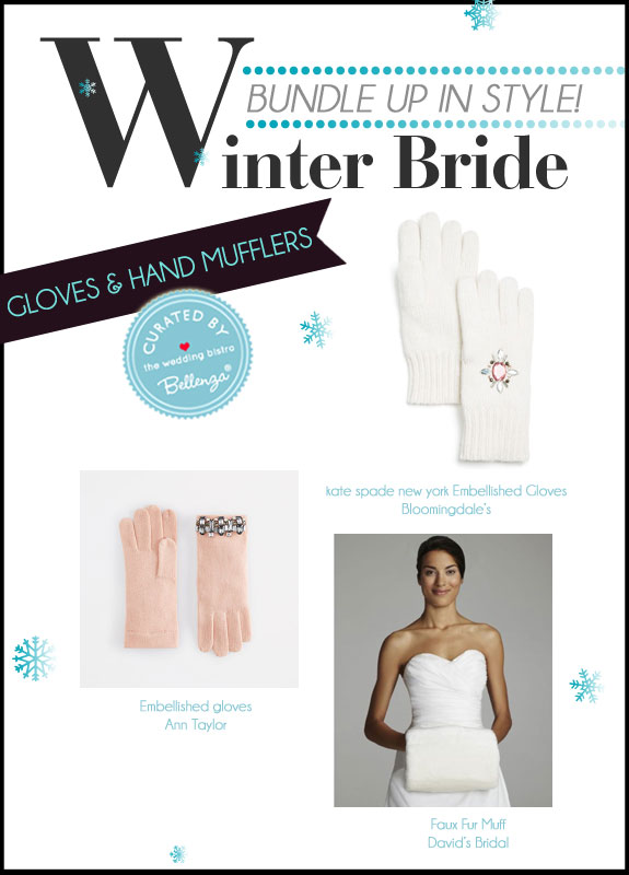 A Curated Collection of Winter Bridal Accessories for Gloves and Hand Mufflers at the Wedding Bistro at Bellenza