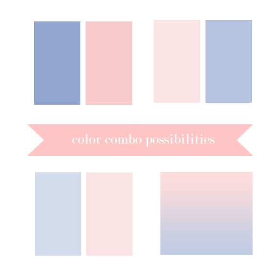 Rose Quartz and Serenity Blue  color pairing possibilities by Bellenza