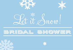 Snowy bridal shower decorating ideas