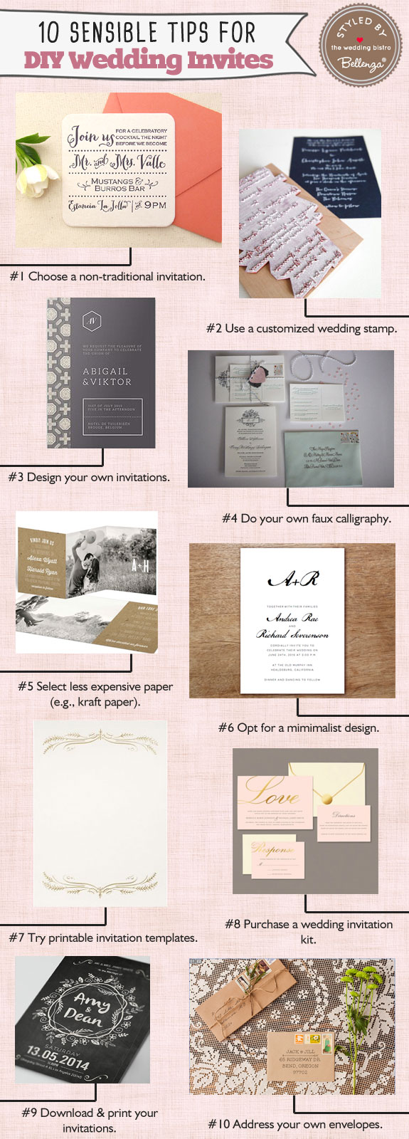 10 Sensible Tips for DIYing Your Wedding Invitations!