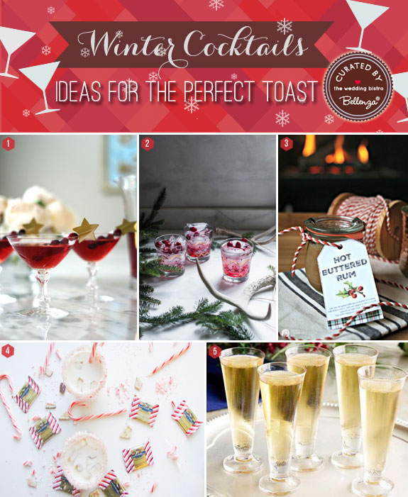 10 Winter Wedding Signature Drinks to Toast With! #wintercocktails