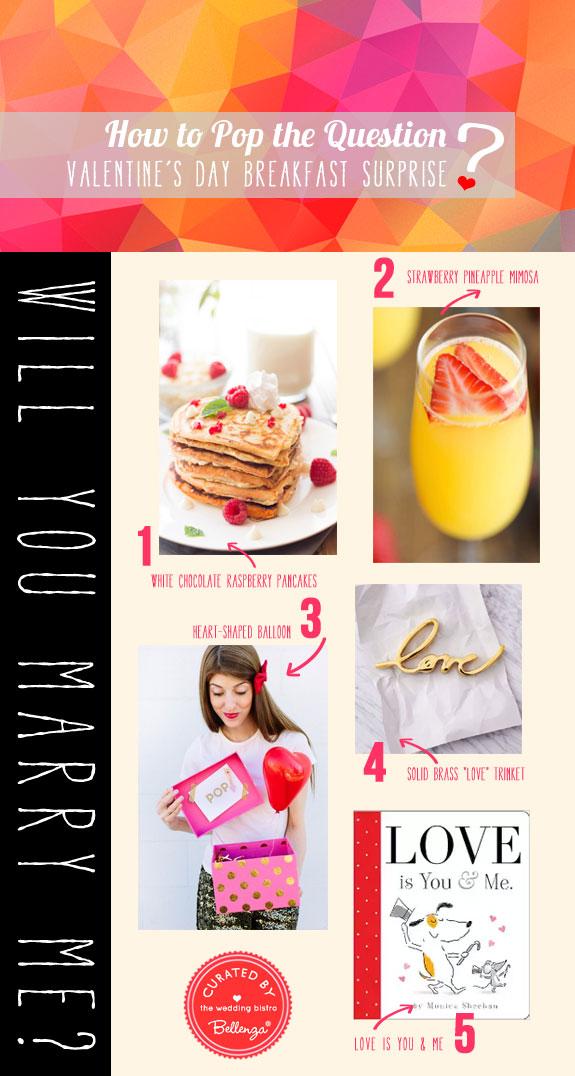 Pop the Question. A Surprise Valentine Breakfast Proposal.
