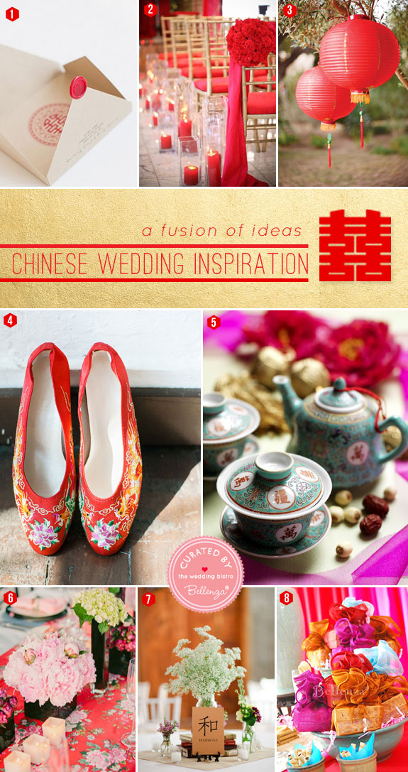 Chinese Wedding Inspiration. A Fusion of Ideas for the Ceremony +and Reception