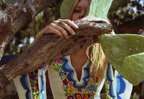 Woodstock' Butterfly-sleeved Caftan. Image via New Crop