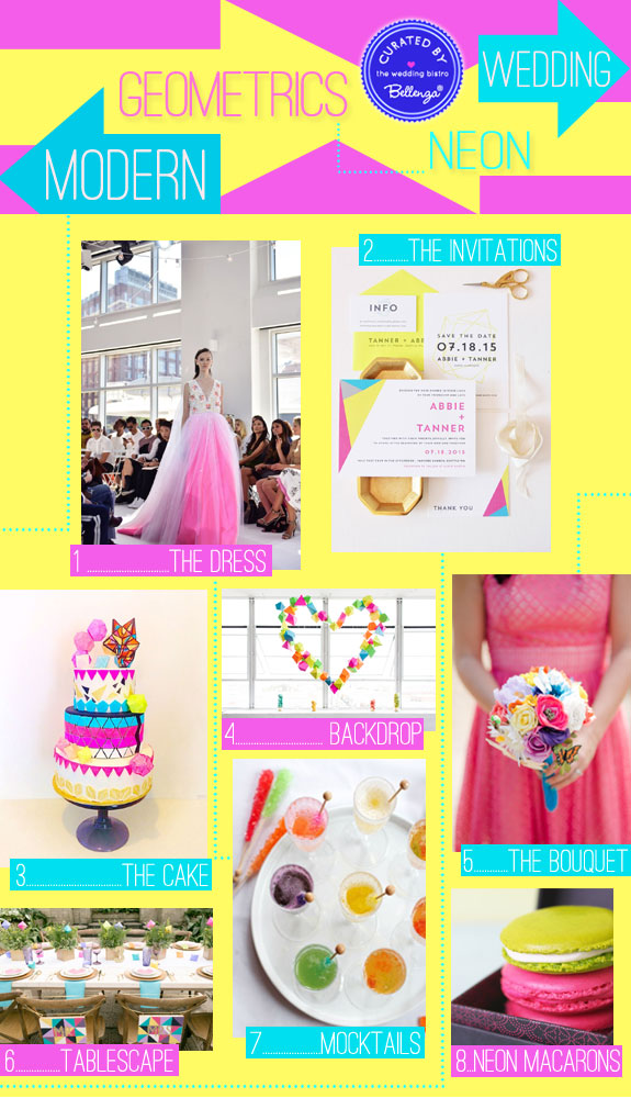 Geometrics Meet Neon Colors in a Dazzling Modern Wedding from Bellenza!