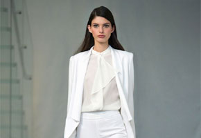 Ready to wear white suit by Rachel Zoe, via Vogue