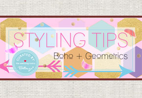 Bohemian geometrics styling and decorating tips