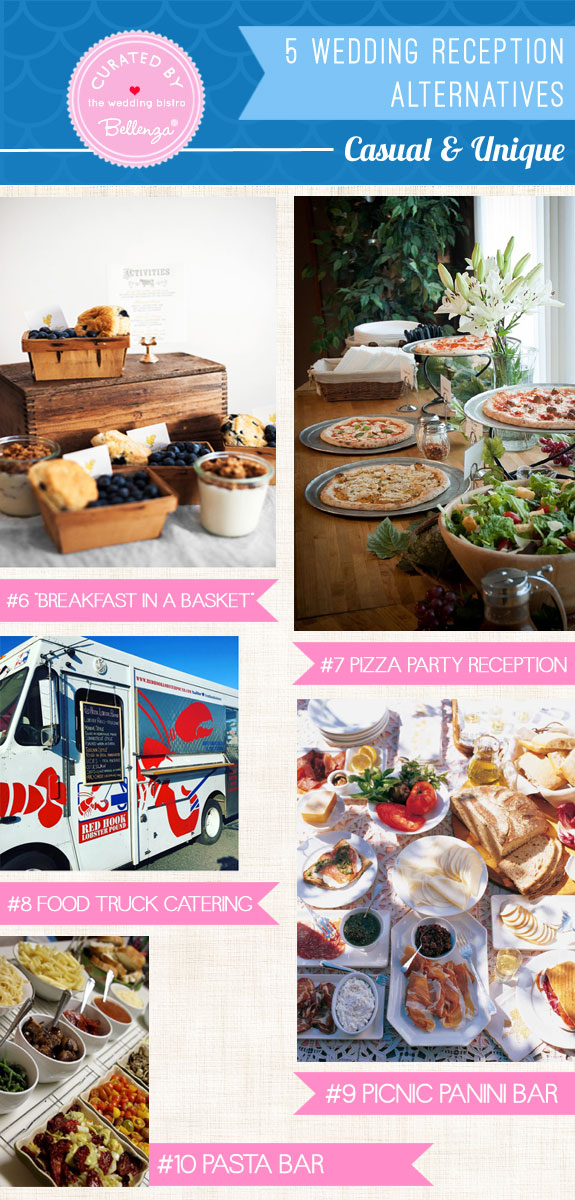 5 Wedding Reception Alternatives that are creative, casual, fun and even offbeat spin