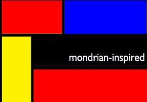 Mondrian Art Themed Wedding