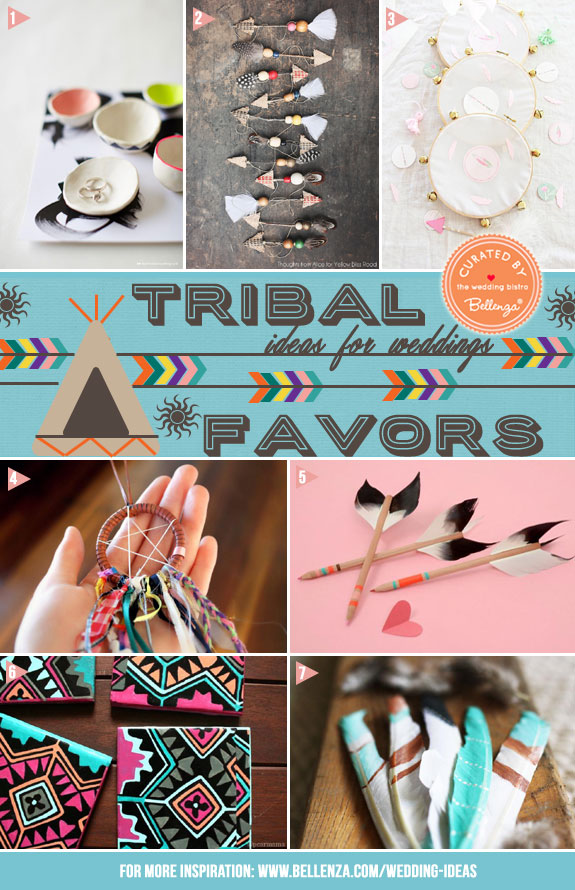 Get With The Trend! Boho Aztec and Tribal Favor Ideas! Featured on The Wedding Bistro at Bellenza.