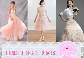 Bridesmaid dress separate in pretty styles for making a statement