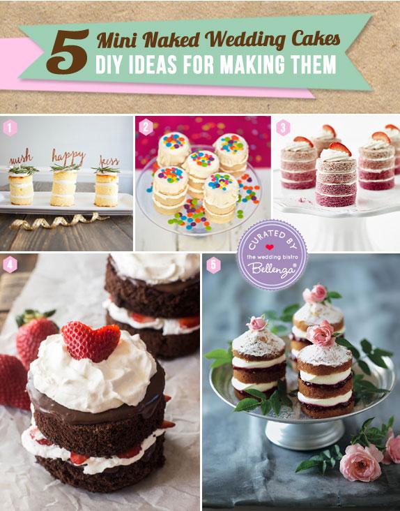 Easy Peasy. 5 DIYs for Mini Naked Wedding Cakes!