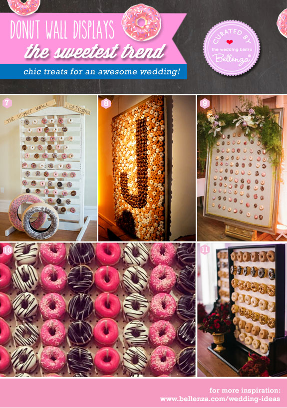 Donut wall display ideas from peg boards to pallet stands.