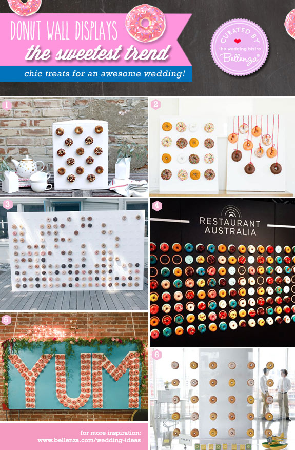 Donut wall displays for awesome weddings from peg boards to frames.