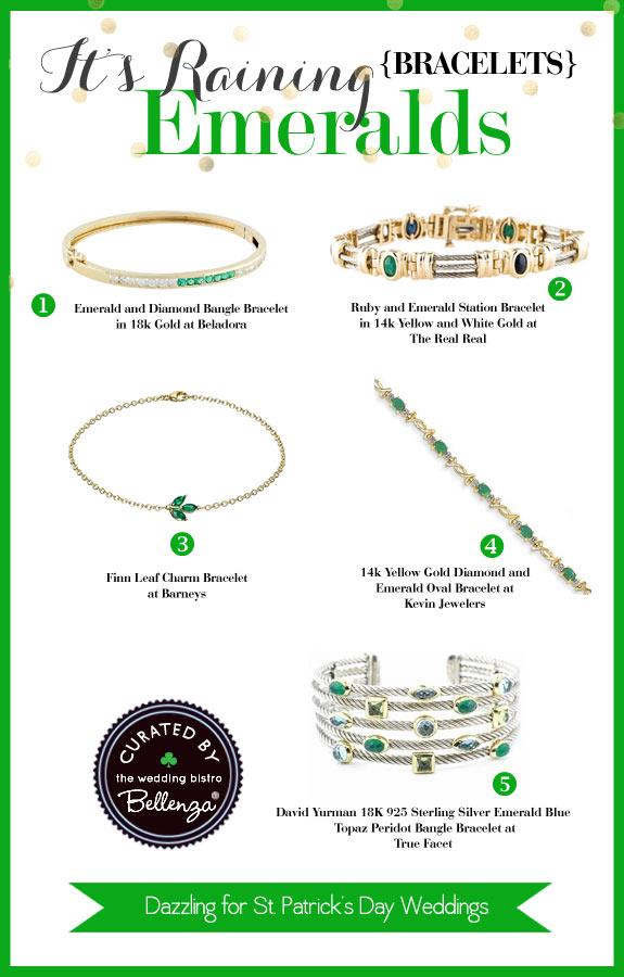Emerald Bracelets to Wave Around - The Wedding Bistro at Bellenza