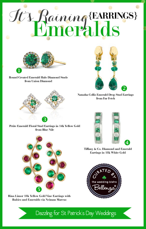 Emerald Earrings to Flash with That Smile - The Wedding Bistro at Bellenza