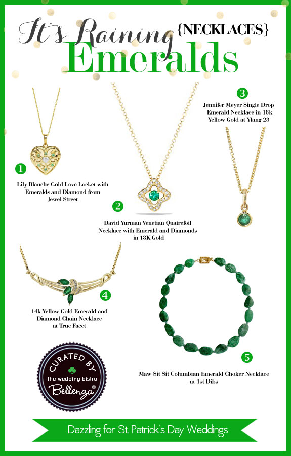 Emerald Necklaces to Frame Your Radiant Face - The Wedding Bistro at Bellenza