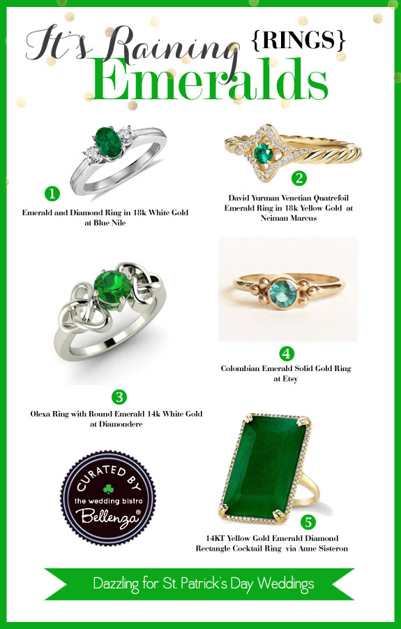 Emerald Rings for Those Bridal Hand Shots - The Wedding Bistro at Bellenza