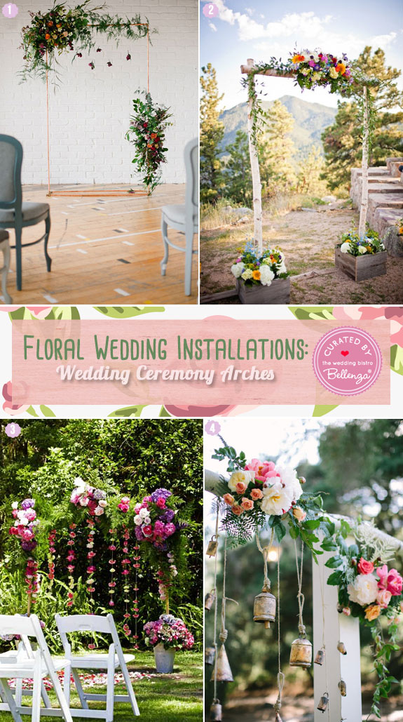 Floral Wedding Installations - Ceremony arches