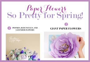 Spring paper flowers