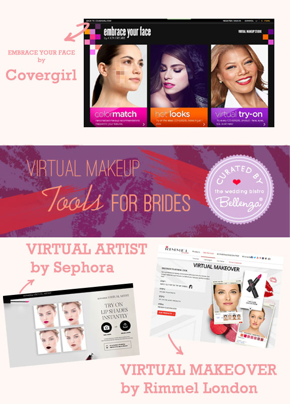 Virtual makeover for brides featured on The Wedding Bistro at Bellenza