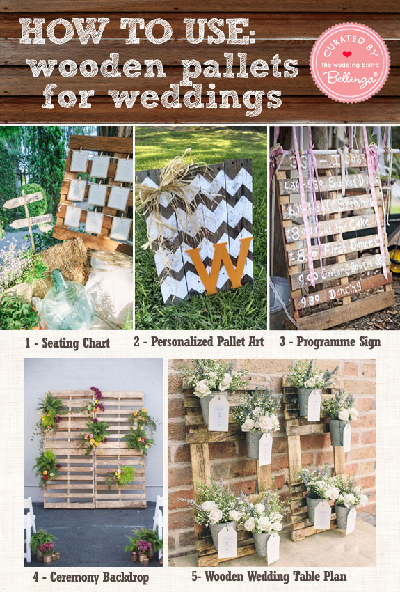 5 Great Uses of Wooden Pallets at Weddings