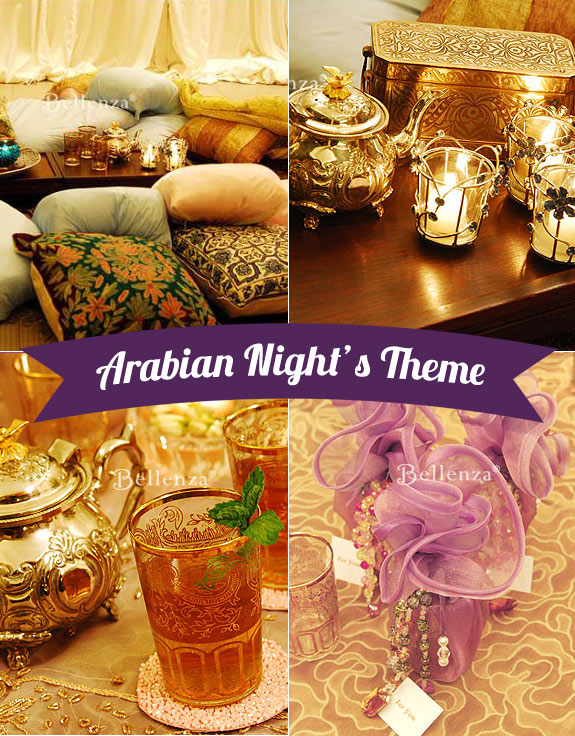 Arabian Night's bridal shower theme