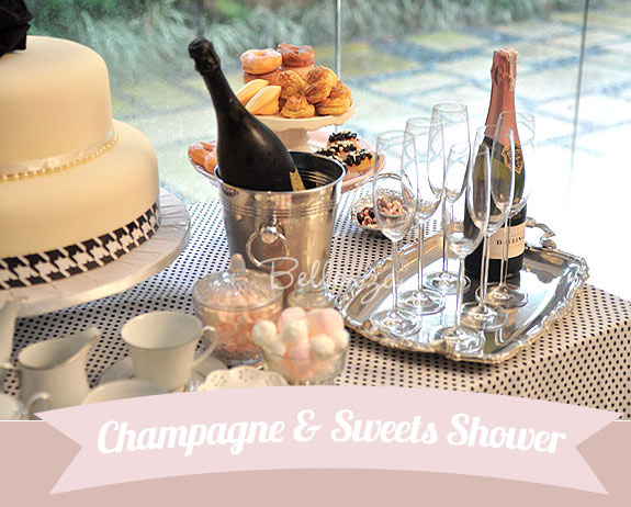Champagne and sweets bridal shower party